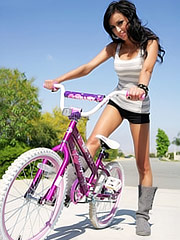 Hot Bitch Breanne Benson on a bike