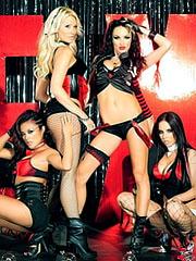 Kaylani Lei in 4some lesbian action