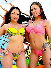 Vicki Chase and Juelz Ventura in lingerie