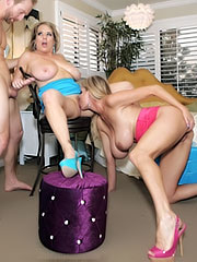 Maggie Green in hot group action