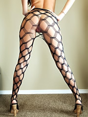 Cassandra Nix in sexy stockings