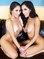 Liv Aguilera and Chloe Amour in action