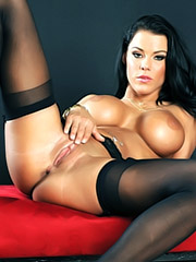 Peta Jensen fucks in black stockings