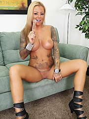Britney Shannon tattooed and masturbating